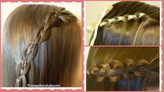 Waterfall Chain Braid Tutorial, Princess Hairstyles