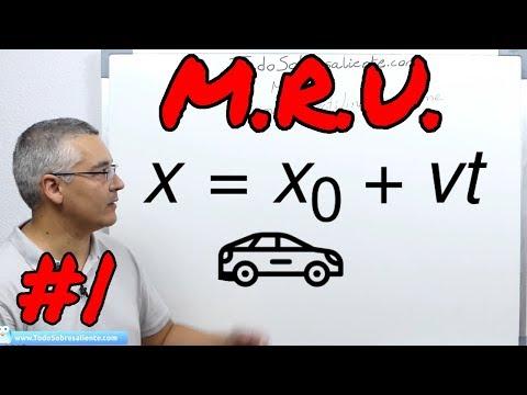 M.R.U. Movimiento rectilinio uniforme. Conceptos básicos.