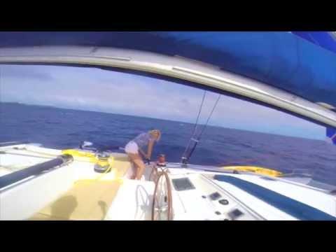 Sailing the world, we visit the island of Falaga, Lau Islands, Fiji