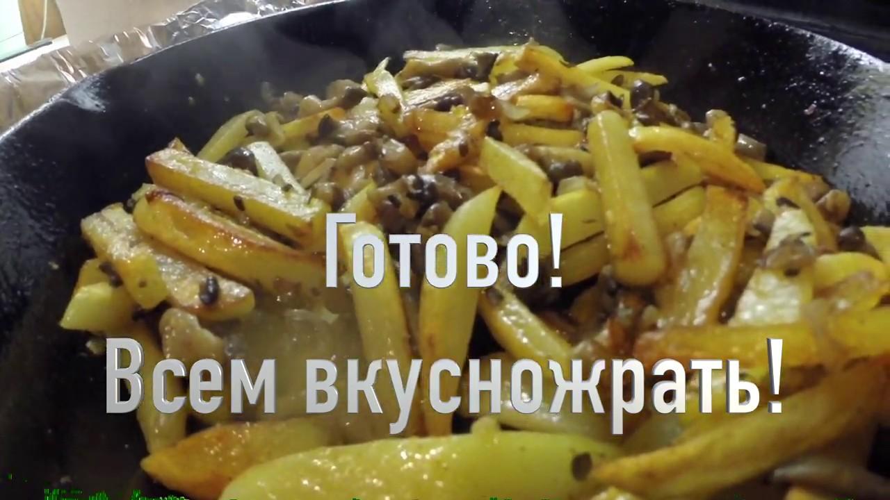 Грибы вешенки с картошкой| всё как вы любите
