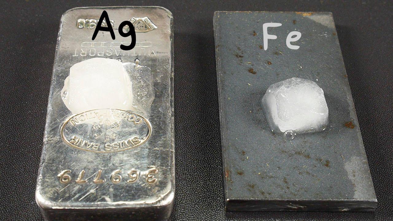 Conductividad Térmica:  Plata y Hierro