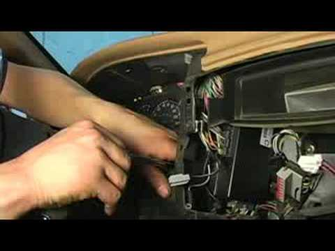 How to Replace Dashboard Lights : Removing Instrument Cluster From Dash