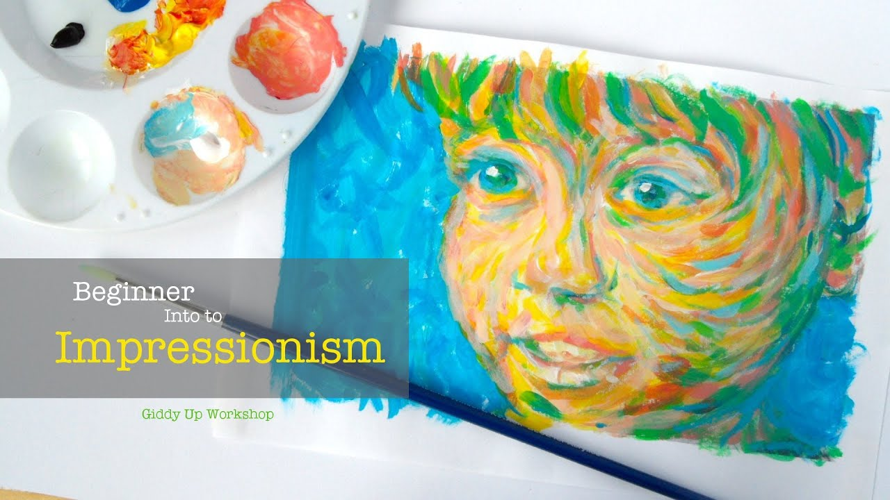 Art lesson beginner painting intro to impressionism youtube