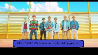 "Video BTS's ""DNA"" MV breaks record for K-Pop groups by hitting 100 Million views in fastest time😍 download MP3, 3GP, MP4, WEBM, AVI, FLV Maret 2018"