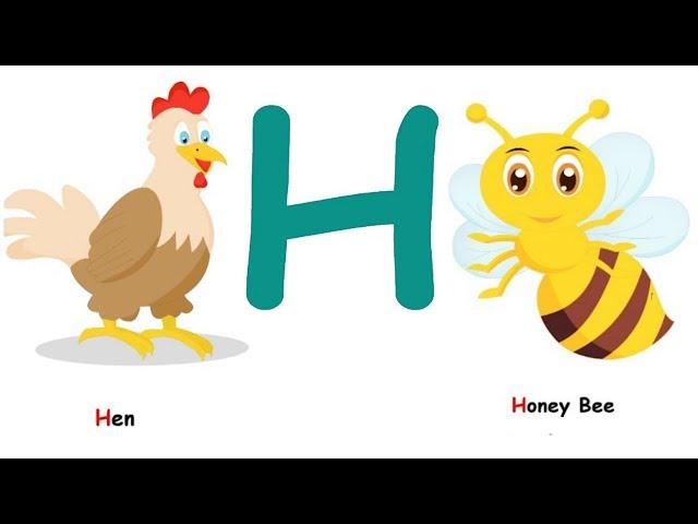 لعبة الحروف |  تعليم الحروف الانجليزية للأطفال | حرف H - تعليم الاطفال- Kids Learn ABC