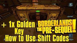 "Biki Showcast How to Use Borderlands The Pre Sequel Shift code ""Shift Key Vendor"""