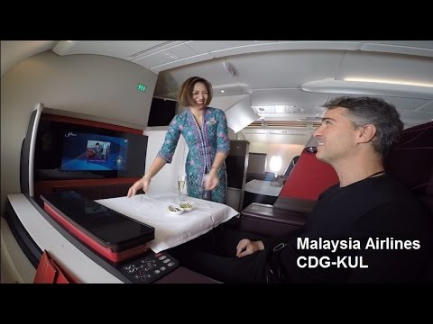 Malaysia Airlines First Class A380  CDG-KUL (MAS21)