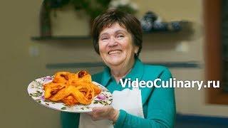 Цветочек из слоеного теста с заварным кремом   Рецепт Бабушки Эммы