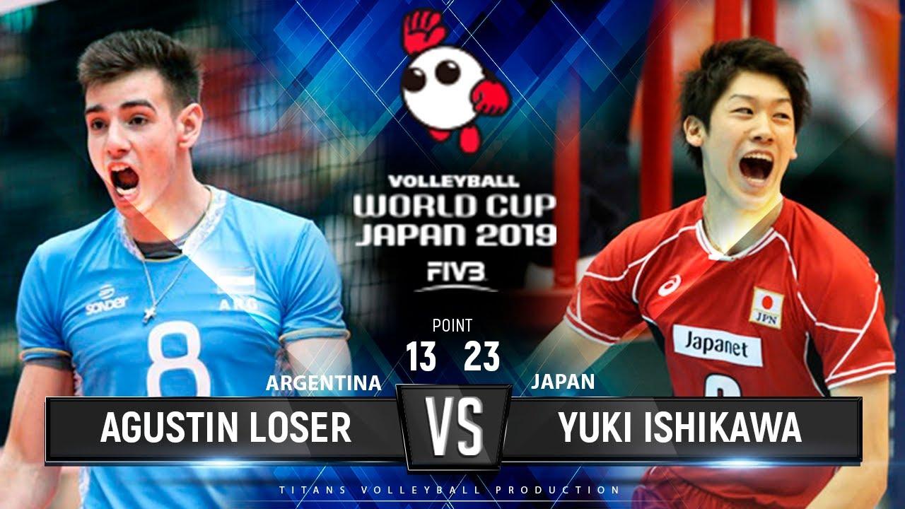 Agustin Loser vs Yuki Ishikawa | ARGENTINA vs. JAPAN - Highlights | Men's Volleyball World Cup 2019