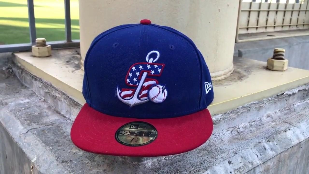 MLB Hat Review MiLB Stockton Ports 4th of July - YouTube 160262b95