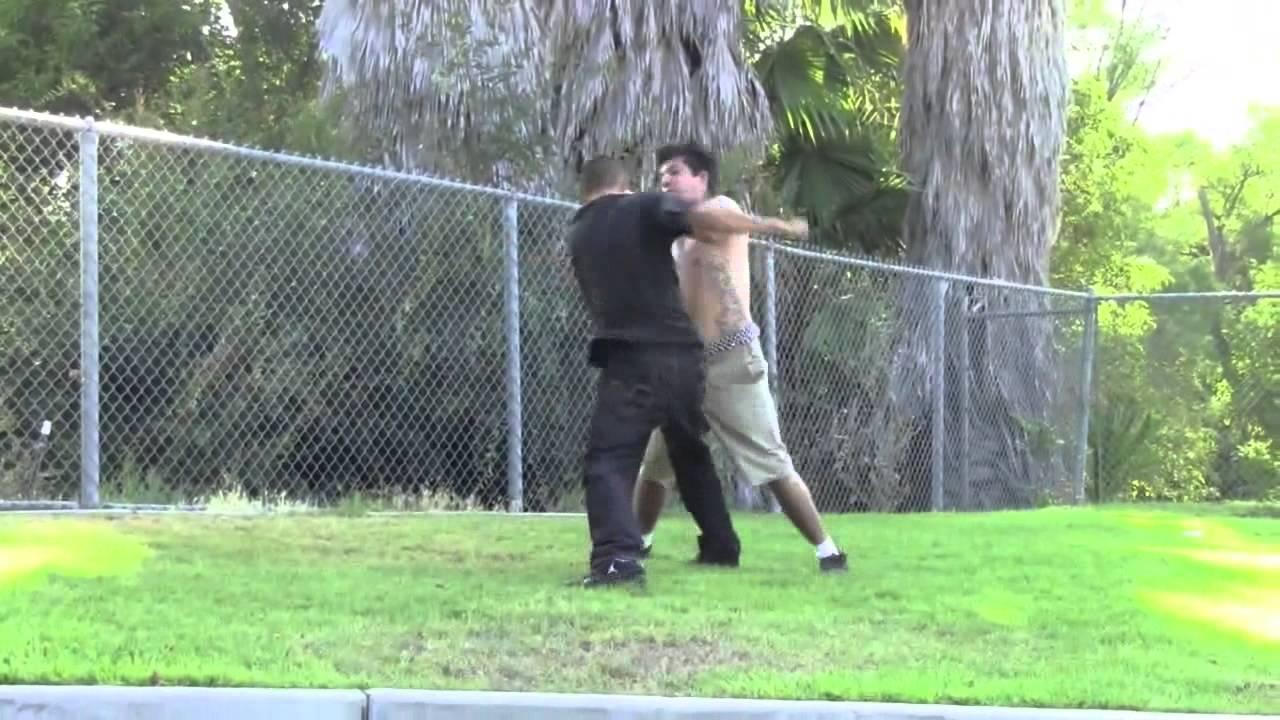 Backyard fight beat down - YouTube