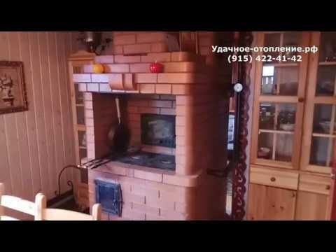 Печь с водяным котлом для отопления