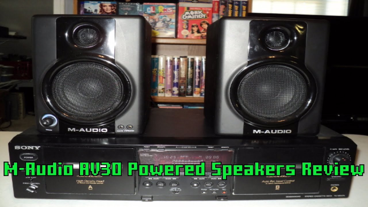 m audio av30 powered speakers unboxing and review youtube. Black Bedroom Furniture Sets. Home Design Ideas