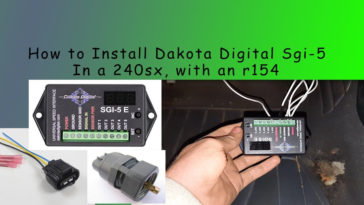 How to install Dakota Digital Sgi-5 in s14 with r154 Dakota Digital Sdometer Wiring Schematic on