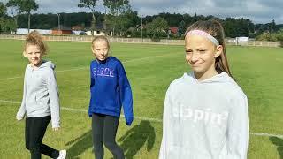 Pozdrawiamy Lekkoatletów -Nadia na Biegach Przełajowych - Sztafeta 800 metrów - Bolesławiec
