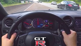 Repeat youtube video Nissan GTR Onboard POV 0-300 Acceleration Autobahn ECC Rent Mietwagen