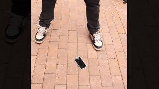 failzoom.com - guy cracks the very first iPhone X