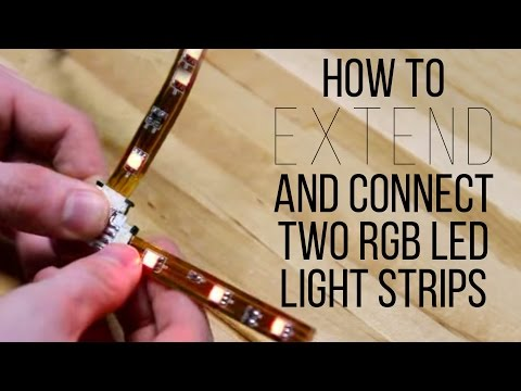 How To Extend And Connect Two RGB LED Light Strips - superbrightleds