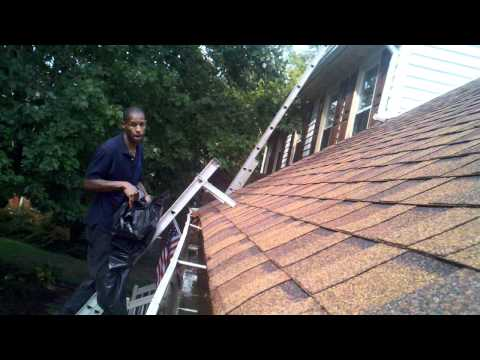Gutter Cleaning Tips How To part 1