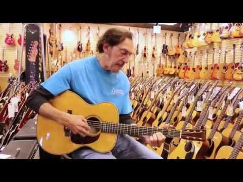 Freebo playing a Martin 000-28 here at Norman's Rare Guitars