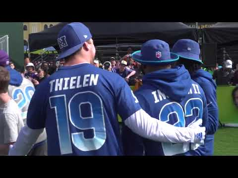 separation shoes 518a7 df9f0 Adam Thielen Mic'd Up At His First Pro Bowl - YouTube
