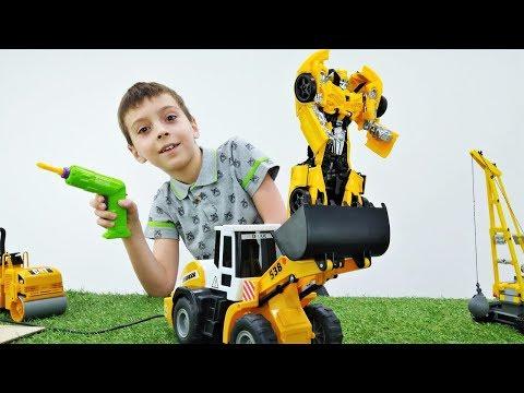 Видео про игрушки ремонт робота Бамблби из мультика Трансформеры