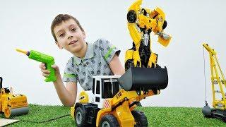Видео про игрушки: ремонт робота Бамблби из мультика Трансформеры