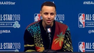 Steph Curry press conference after All-Star Game | Team LeBron vs Team Giannis