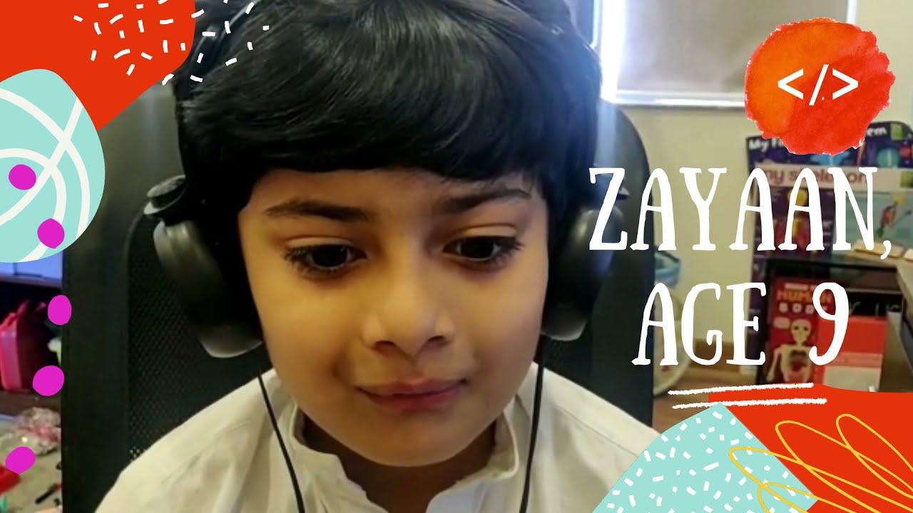 Meet the Codeschool.pk students- Zayaan