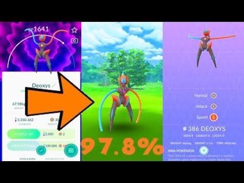Pokemon Go Deoxys Speed Form Raid & Catch