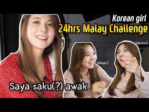 Korean Girl Tried 24hrs Bahasa Melayu Challenge |Blimey