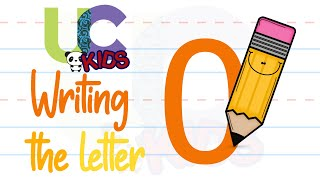 Write the letter O | Alphabet Writing lesson for children | UCkids