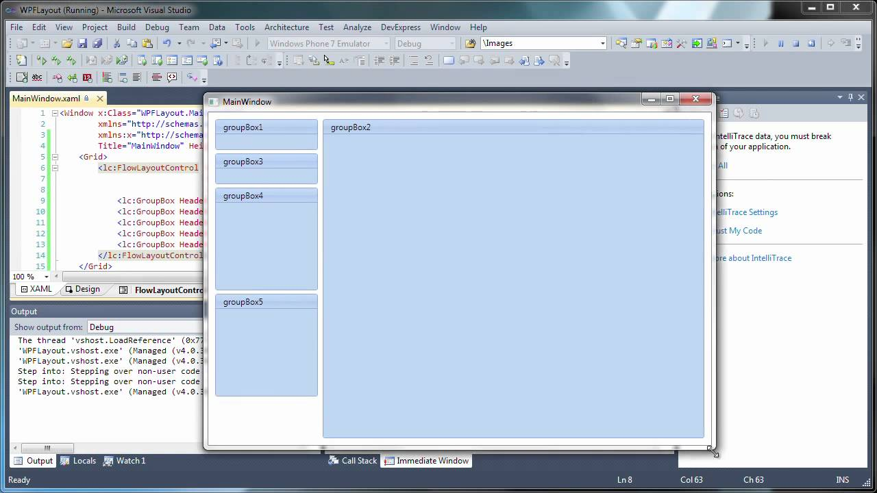 WPF Layout Control - Flow Layout Control and Item Maximization