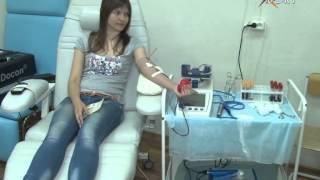 На крыльце станции переливания крови состоялся концерт