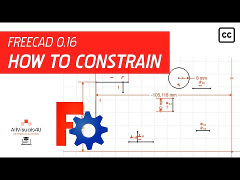 FreeCAD Tutorial - General #6 - How to constrain sketch