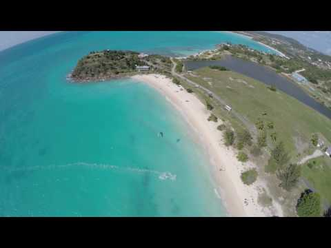 Kitesurfing in Antigua