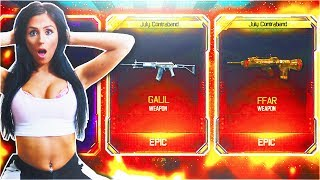 GIRLFRIEND OPENS LUCKIEST SUPPLY DROPS EVER! - NEW FREE BLACK OPS 3 DLC WEAPON SUPPLY DROP OPENING!