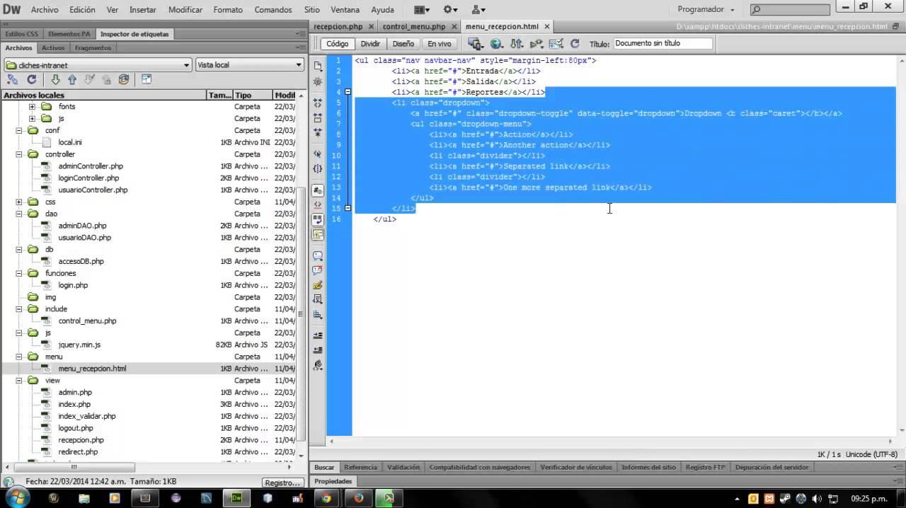 Desarrollo de una Intranet - PHP (MVC) + MySQL   Parte 7 - Módulo ...
