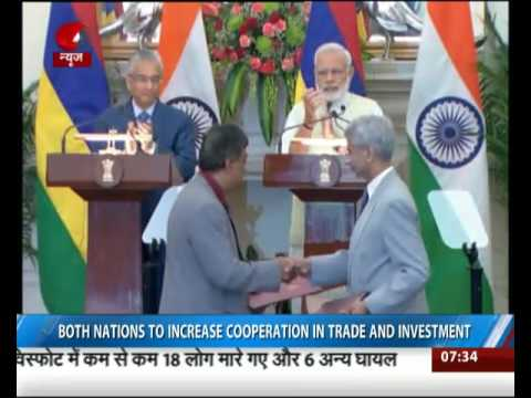 India and Mauritius sign agreements to expand bilateral ties
