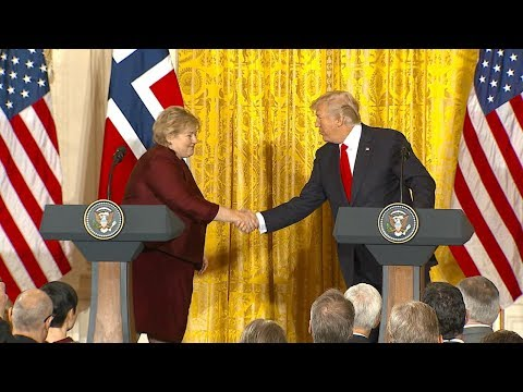 Pres. Donald Trump,  Norwegian Prime Minister Erna Solberg hold joint news conference    ABC News