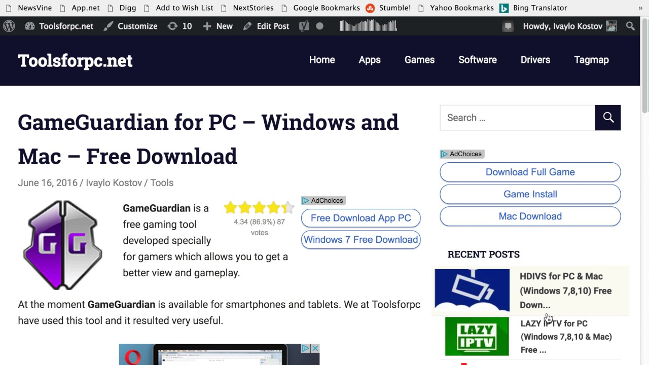 GameGuardian for PC (Windows 7,8,10 & Mac) Download Now