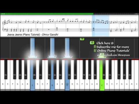 ♫ Jeena Jeena (Badlapur) | Piano Tutorial + Music Sheet + MIDI -- EASY to ADVANCED