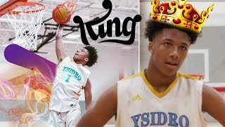#1 14 Year Old INSANE DUNK VS SENIORS!! Mikey Williams GOES OFF IN CLOSE GAME!