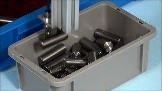 Bin Picking von Metallzylindern