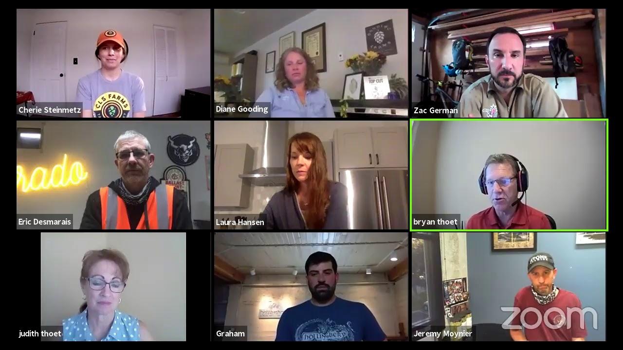 Hop Talk: Hop Research Council members conduct sensory on Triumph, Comet, & Cashmere