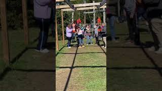 Girl too big for baby swing