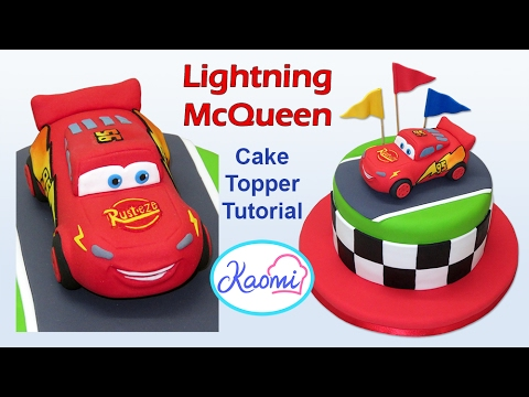How to make Lightning Mcqueen (Cake Topper) / Cómo hacer a Rayo McQueen para tortas