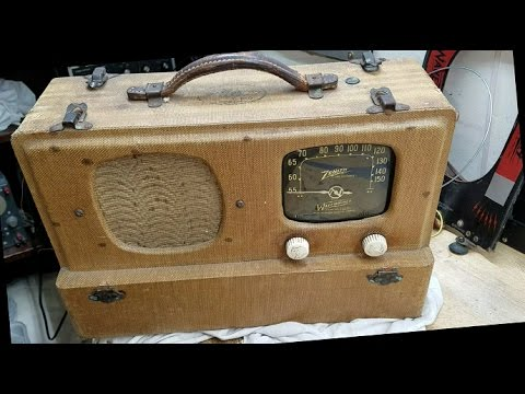 1941 ZENITH 6G501M Portable AC-DC Radio Part 1 of X First Look