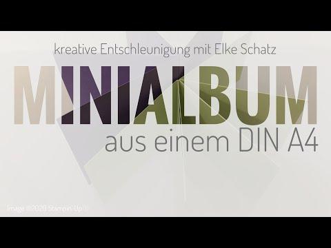 Minialbum Aus Einem DIN A4 Mit Stampin' Up!®