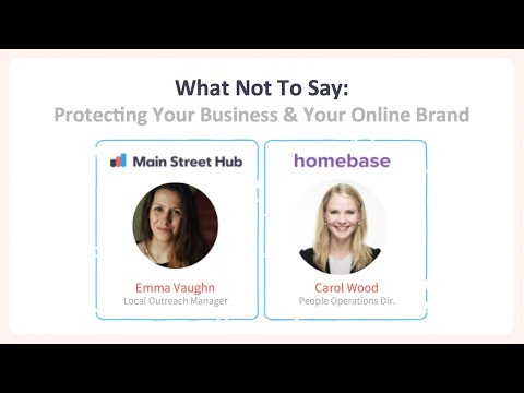 What Not To Say - Protecting Your Business and Your Online Brand